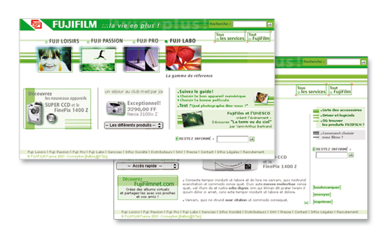 Fujifilm-Site web